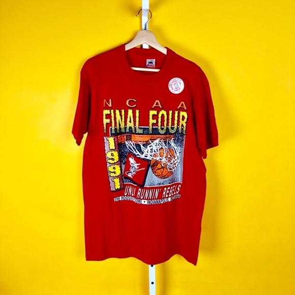 1991 NCAA Final Four UNLV Runnin Rebels T Shirt